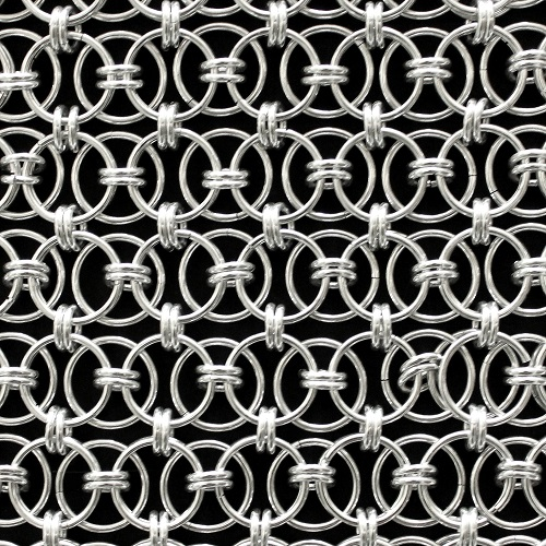 Interlocking Metallic Ring Mesh Drapery Aluminum YH-22-12