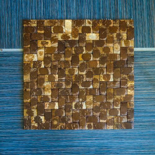 JH-K47-05 Herringbone Coconut Mosaic Application