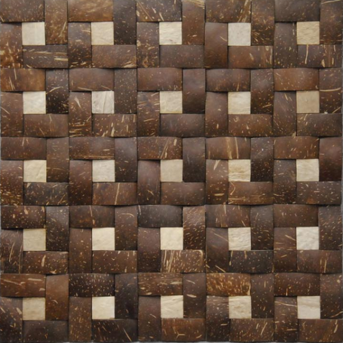 JH-K54 smooth patterned coconut wood mosaic