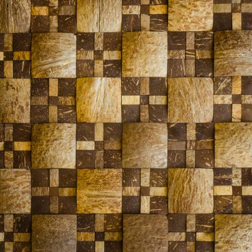 JH-KH04 multisize uniform squares coconut mosaic tile
