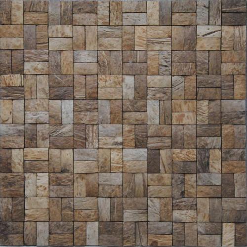 JHK-06 basketweave II rough surface coconut mosaic tile