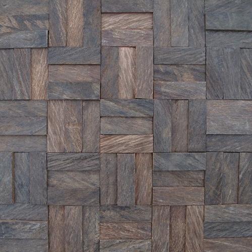 GTCA4-Rustic camura wood mosaic 3D artistic unique