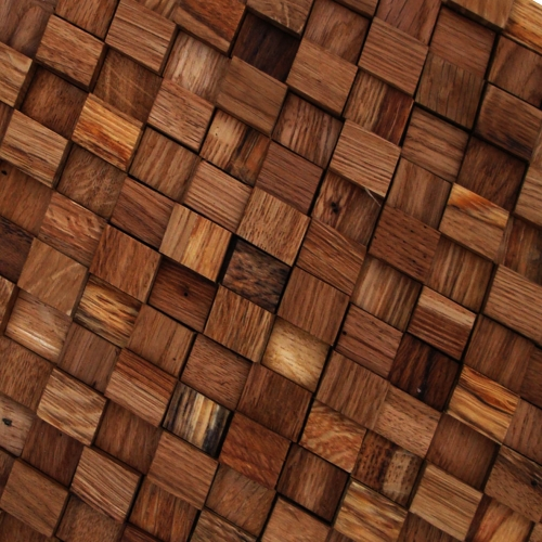 GTOA01-3D handmade wood mosaic dimensional depth artistic tile unique trendy by globaltrends