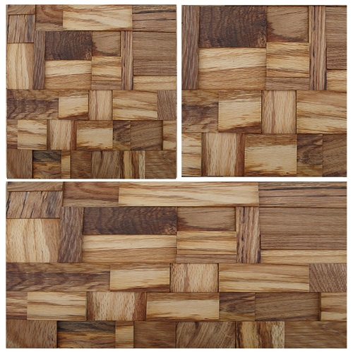 GTOA06 artistic tile wood mosaic 3D unique tile linear modern