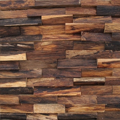 SAP03 artisitic tile 3D wood mosaic by globaltrendsbuildingsupply