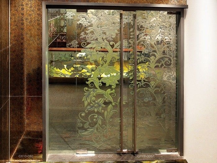 Partition doors gallery architectural design hardware for Decorative tempered glass panels